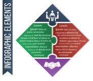 Illustration d'Infographic Le vecteur de concept d'affaires a inclus les icônes intégrées de la compétence et de l'affaire Photographie stock