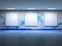 Illustration d'intérieur de galerie d'art contemporain Photographie stock