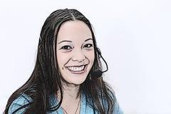 Illustration d'intervenant du service client illustration libre de droits
