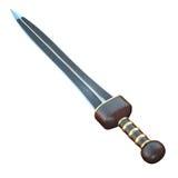 Illustration d'isolement d'une épée de short de Roman Gladius illustration stock