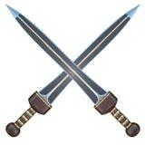 Illustration d'isolement d'une épée de short de Roman Gladius Image libre de droits