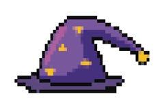 Illustration d'isolement m?di?vale et d'imagination de magicien de chapeau de conception de vecteur illustration de vecteur