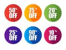 Illustration d'isolement par étiquette ultra-violette de vente d'offre spéciale Label de prix discount, symbole pour la campagne  Illustration Stock
