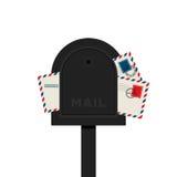 Illustration d'isolement par conception plate de lettre de boîte aux lettres Images stock