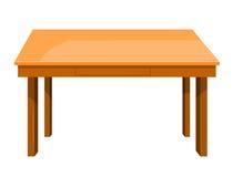 Illustration d'isolement par table en bois Photo stock