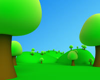 Illustration of 3d jungle outdoor picture view. 3d jungle outdoor picture view Royalty Free Illustration