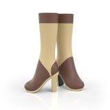 illustration 3D les chaussures des femmes de f Images stock
