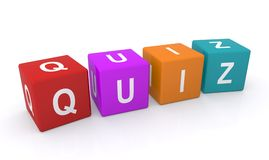 Quiz letter blocks Royalty Free Stock Image