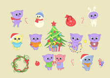 Illustration d'an neuf heureux Images stock