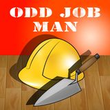 Illustration d'Odd Job Man Represents House Repair 3d Images libres de droits