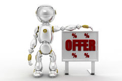 illustration d'offre du robot 3d Photo stock