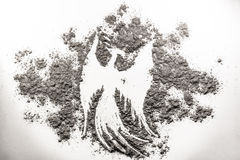 Illustration d'oiseau de Phoenix, renaissance dans la cendre illustration de vecteur