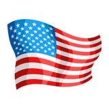 Illustration d'onduler le drapeau américain illustration de vecteur