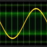 Illustration d'oscilloscope de vague de texture 2D Photo libre de droits