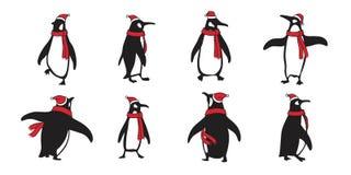 Illustration d'ours blanc d'ours de personnage de dessin animé de logo d'icône de Santa Claus Hat Xmas de Noël de vecteur de ping illustration de vecteur