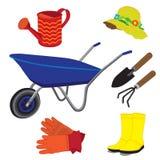Illustration d'outils de jardin Photos stock