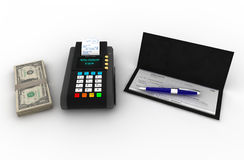Payment solutions. Illustration 3d for payment solutions Royalty Free Stock Photos