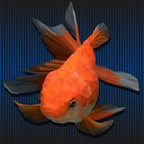 Illustration 3D polygonal des poissons d'or photo libre de droits