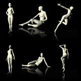 Illustration 3D presenting naked mannequin. Stock Image