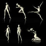 Illustration 3D presenting naked mannequin. Stock Images