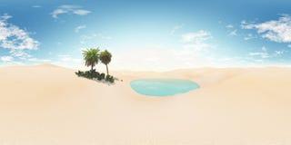 illustration 3d produite par désert arénacée carte d'environnement Carte de HDRI Photographie stock