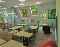 Illustration 3D project of primary school Royalty Free Stock Image