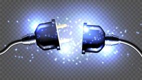 Illustration 3D réaliste de vecteur électrique déconnecté de prise illustration libre de droits