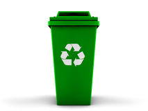 3d recycle bin Stock Image