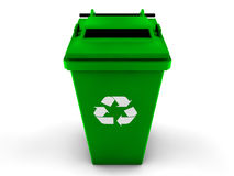 3d recycle bin Stock Photo