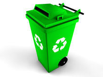 3d recycle bin. Illustration of 3d recycle bin Royalty Free Stock Photography