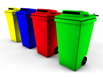 3d recycle bin. Illustration of 3d recycle bin Royalty Free Stock Images
