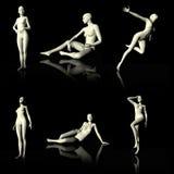Illustration 3D som framlägger den nakna skyltdockan Fotografering för Bildbyråer