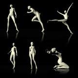 Illustration 3D som framlägger den nakna skyltdockan Arkivbilder