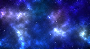 Illustration 3D : Space of night sky. Stock Images