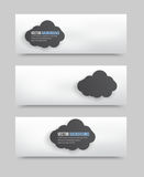 Illustration 3d squares banners. Illustration With 3d clouds banners. Design background Royalty Free Stock Photos