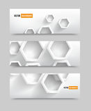Illustration 3d squares banners. Illustration With 3d hexagons banners. Design background Stock Image