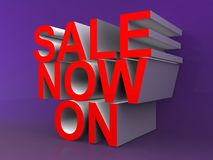 Sale on Now royalty free illustration