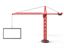 3d tower crane with empty boards Stock Images