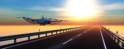illustration d'un bourdon de vol Photos stock
