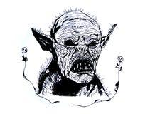 Illustration d'un démon ou Qu'est ce que vies à l'intérieur de nous illustration de vecteur