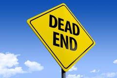 illustration 3D d'un _dead end_angle3 de panneau routier illustration stock