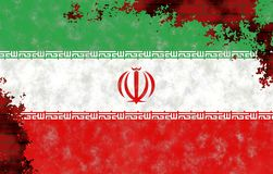 Illustration d'un drapeau iranien photos stock