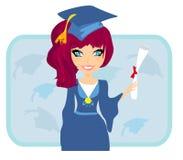 Enfant tenant son diplôme illustration de vecteur