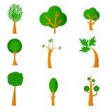 Ensemble d'arbre illustration stock