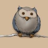 Illustration d'un hibou Images stock