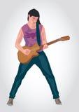 Illustration d'un joueur de guitare Photographie stock