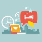Illustration d'un jour urbain de travail illustration stock