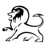 Illustration d'un lion héraldique Lion Mascot Illustrati de vecteur Images stock