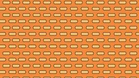 Illustration d'un mur de briques Briques oranges pour la construction Fond illustration stock