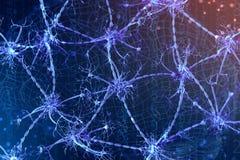 illustration 3d d'un neurone numérique et des réseaux neurologiques Concept d'intelligence artificielle